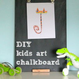 DIY Kids Art Chalkboard
