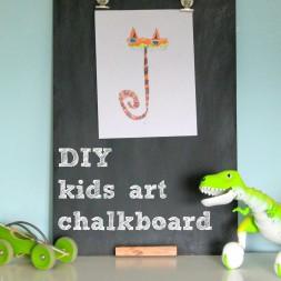 DIY Kids Art Chalkboard