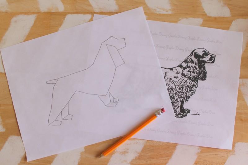 Geometric Spaniel Art Printable-001