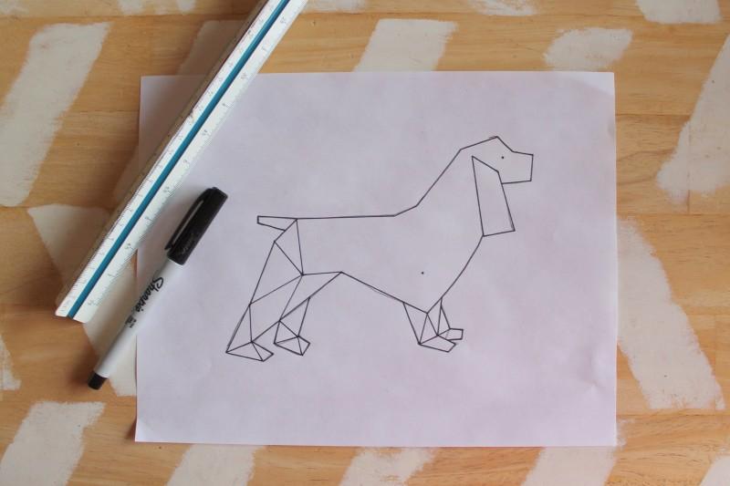 How to Create Geometric Animal Art » Dragonfly Designs