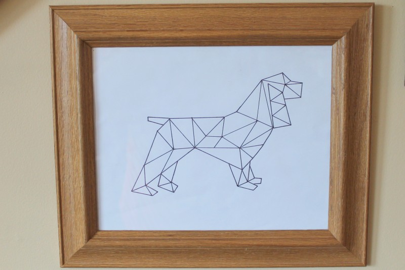 Geometric Spaniel Art Printable-006