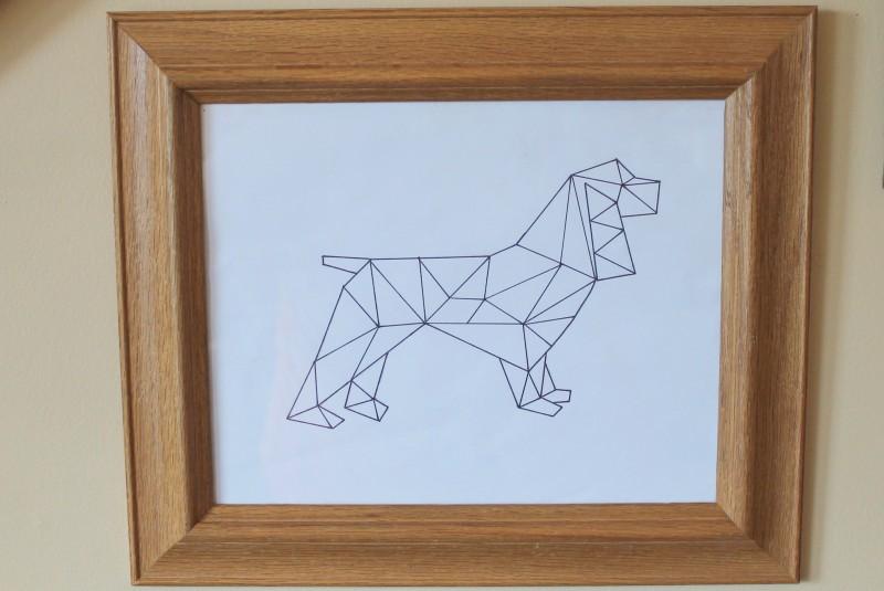 Geometric Spaniel Art Printable-006