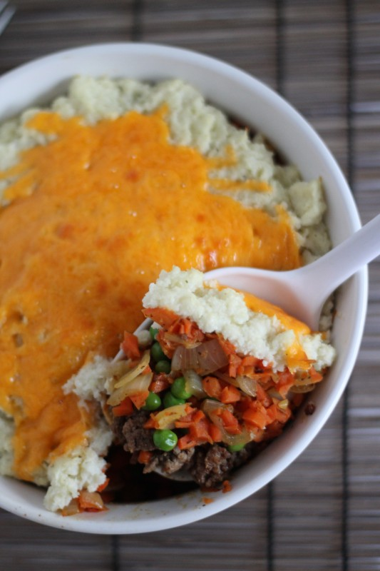 Shepherds Pie with Cauliflower Mashed Potatoes