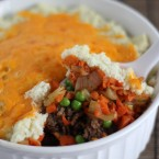 Shephards Pie with Cauliflower Mashed Potatoes
