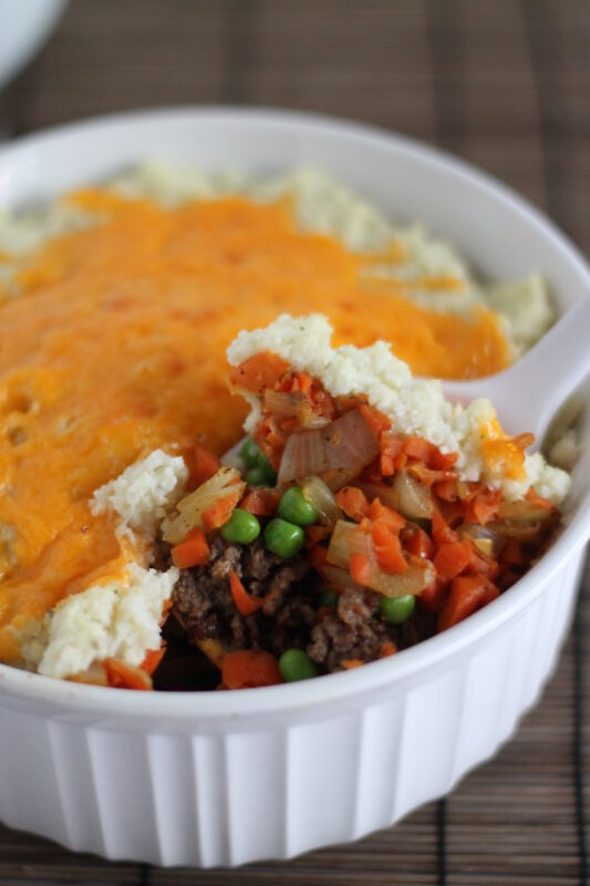 Shepherds Pie & Cauliflower Mashed Potatoes