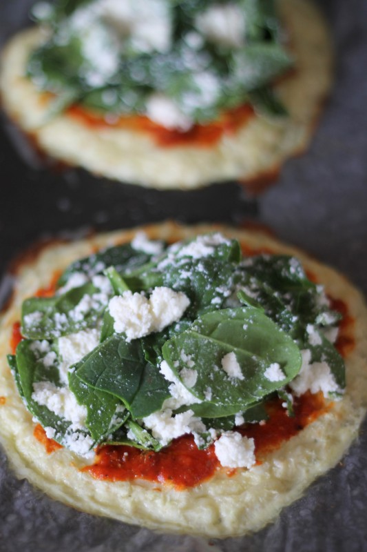 Spinach and Ricotta Cauliflower Crust Pizza Recipe