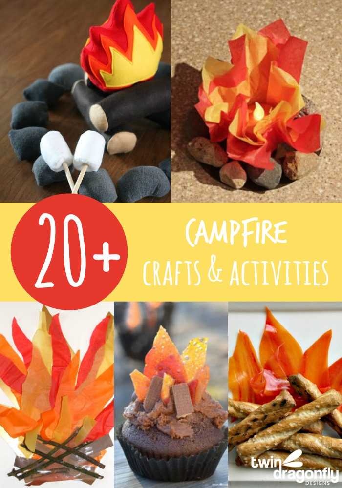 20 Campfire Crafts And Activities 187 Dragonfly Designs