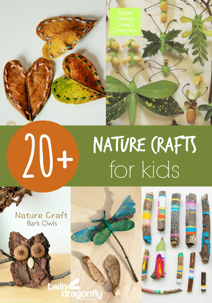 20 nature crafts for kids dragonfly designs for Nature crafts for kids