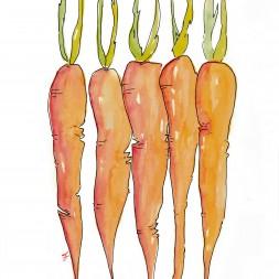 Watercolor Carrot Printable