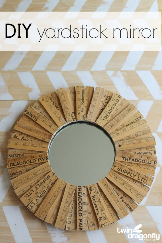 DIY Yardstick Mirror