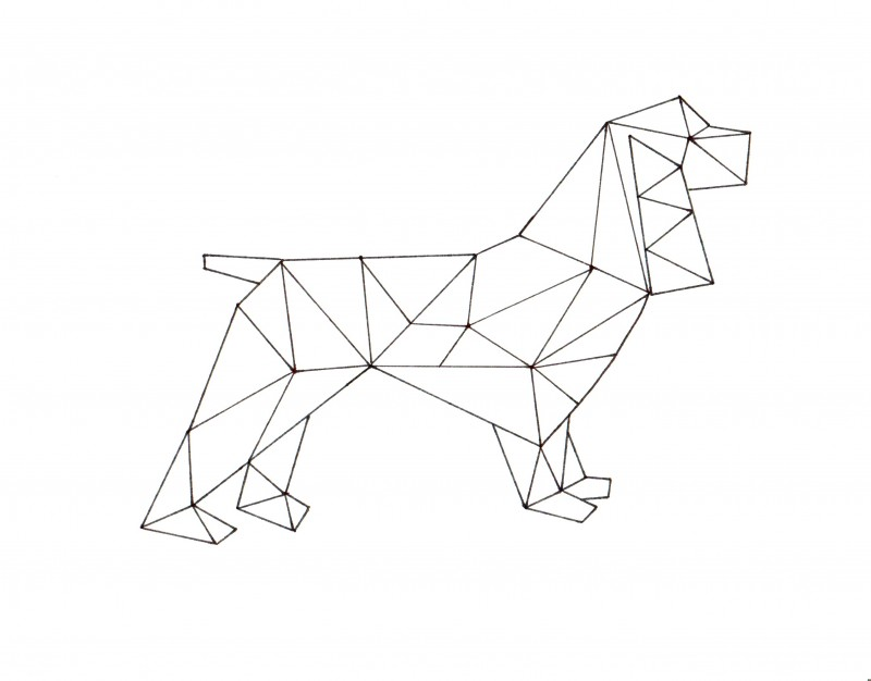 Geometric Spaniel Printable Art