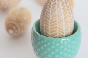 Unique Wooden Egg Designs with Crafty Hangouts