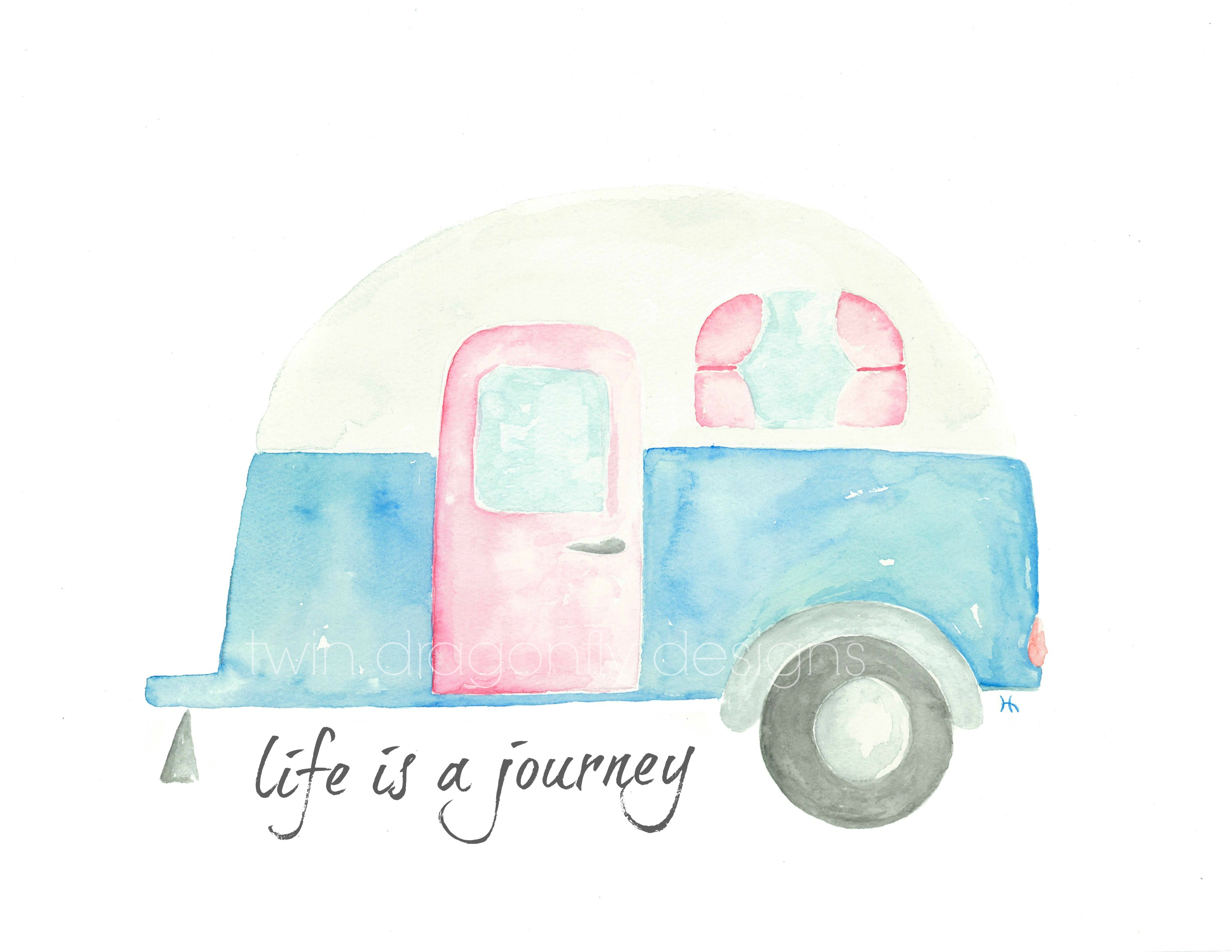 Watercolor Camper Printable