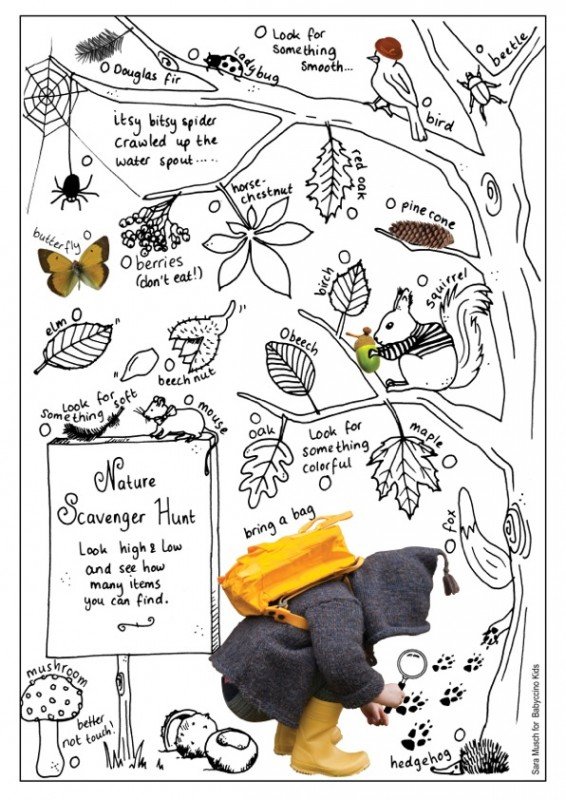 It's just a graphic of Enterprising Nature Scavenger Hunt Printable
