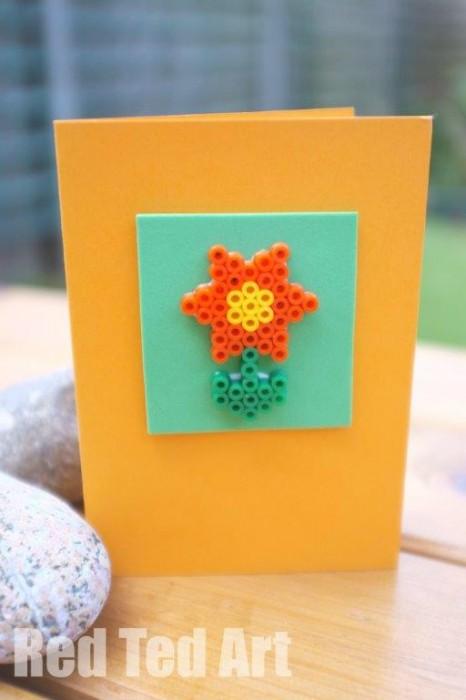 Perler-Bead-Card