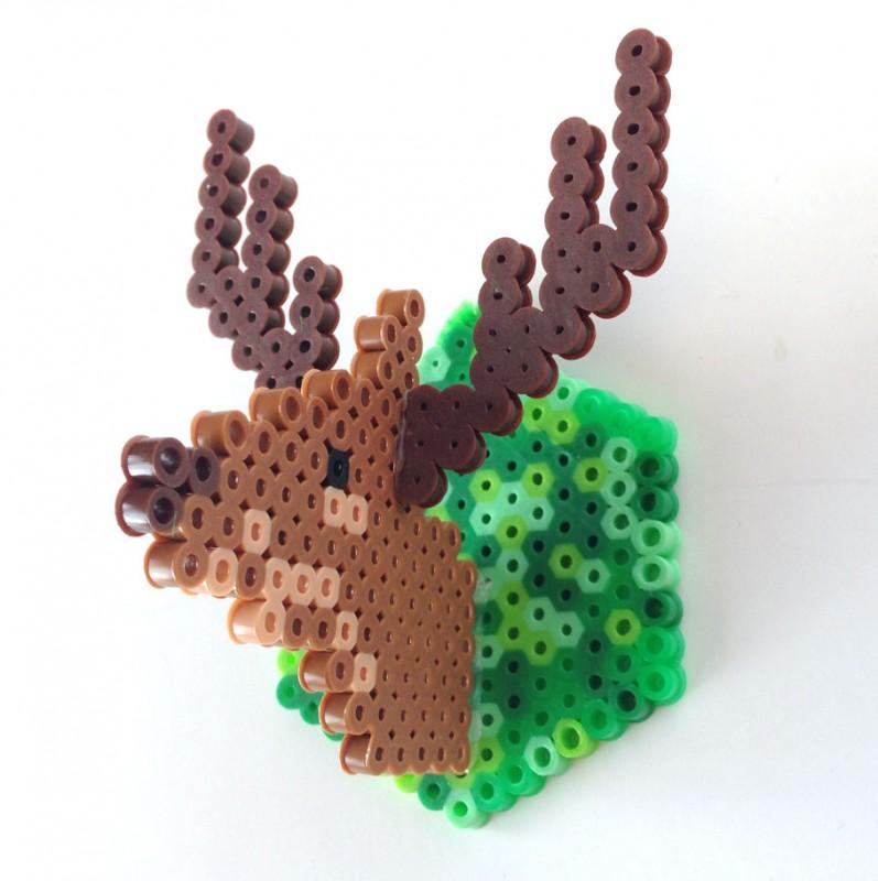 Perler Bead Deer Head