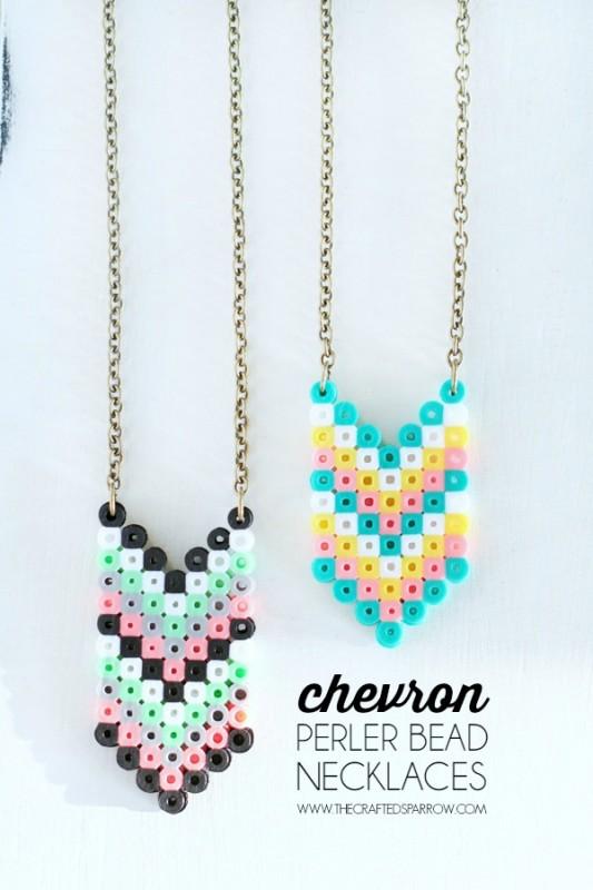 Perler-Bead-Necklaces