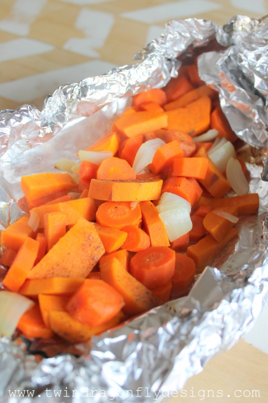 Tin Foil Packet Root Vegetables