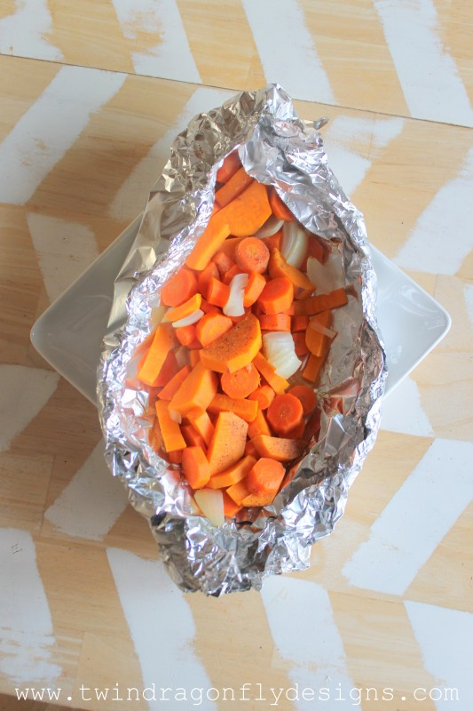 Tin Foil Packet Root Vegetables