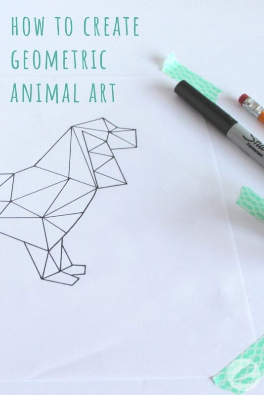how to create geometic animal artwork