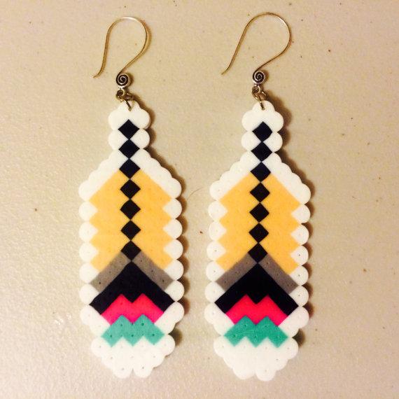 Perler Bead Earrings