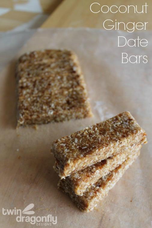 Coconut Ginger Date Bars