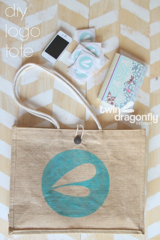 Dragonfly Designs Logo Tote