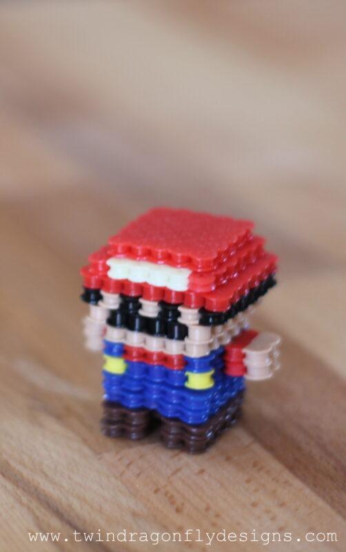 3D Mario Perler Bead Craft Dragonfly Designs