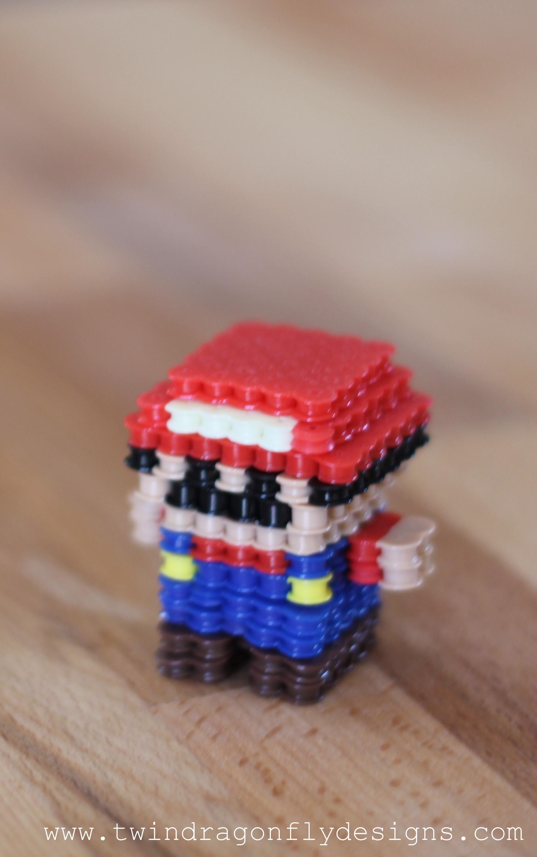 3D Mario Perler Bead Craft » Dragonfly Designs