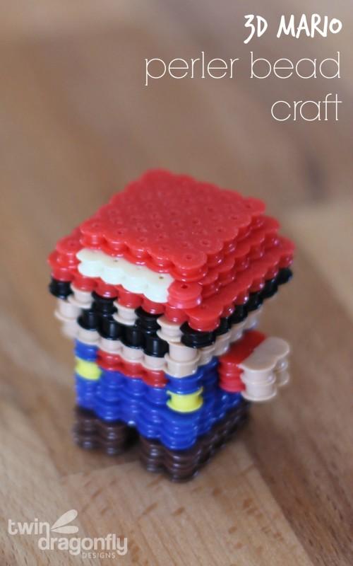 Perler Bead 3D Mario Craft