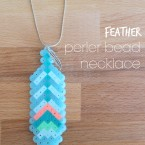 Perler Bead Feather Necklace Pattern