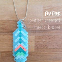 Feather Perler Bead Necklace