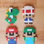 Perler Bead Mario Patterns