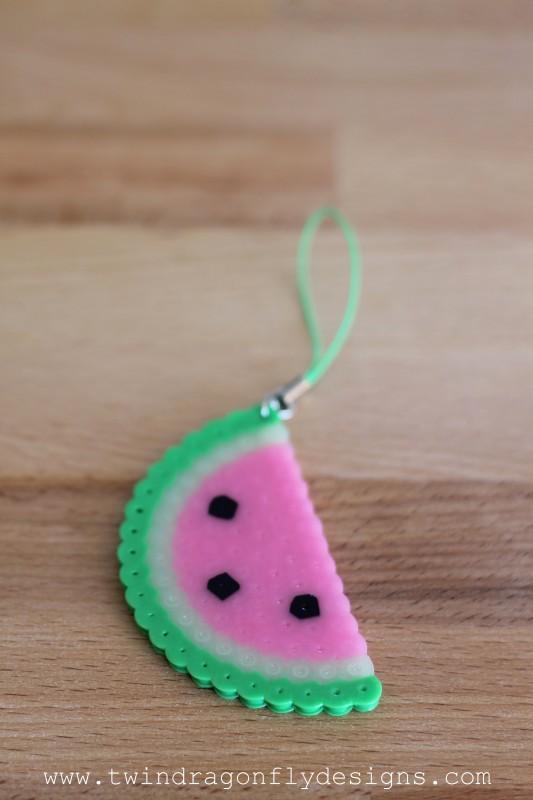 Perler Bead Watermelon