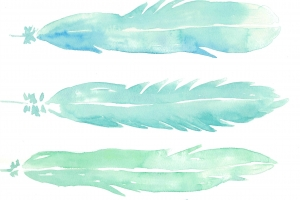 Watercolor Feathers Printable