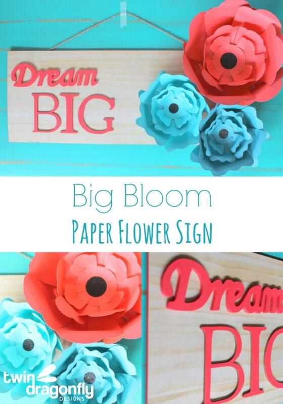 Big Bloom Paper Flower Sign