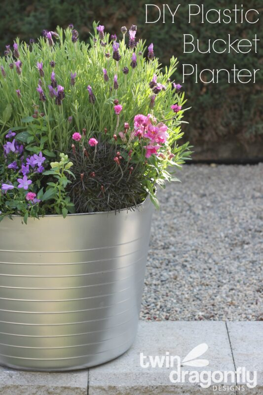 Diy plastic bucket planter dragonfly designs solutioingenieria