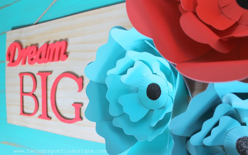 Big Bloom Paper Flower Sign