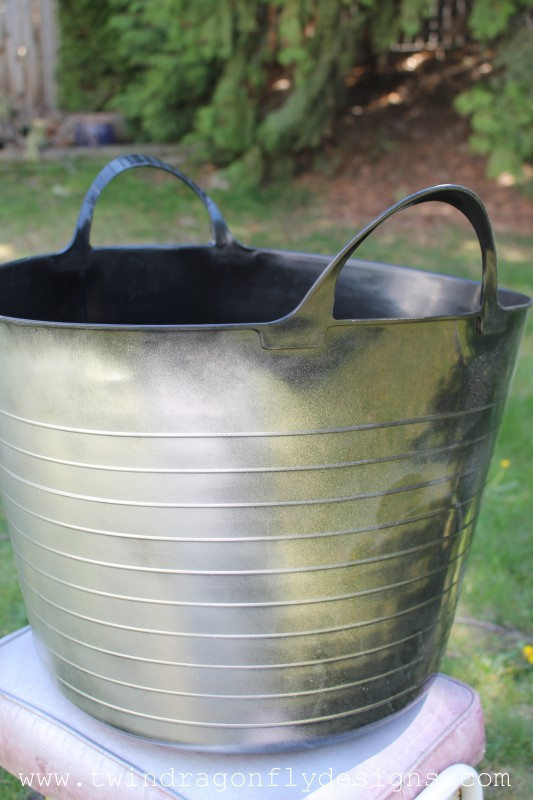 Faux Galvanized Planter