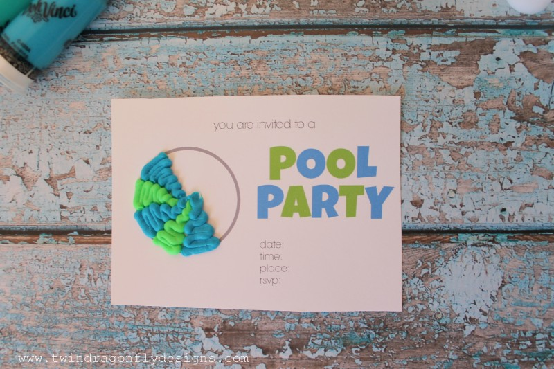 3D Printable Pool Party Invitation