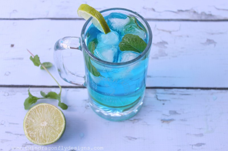 Blue Curacao Mojito