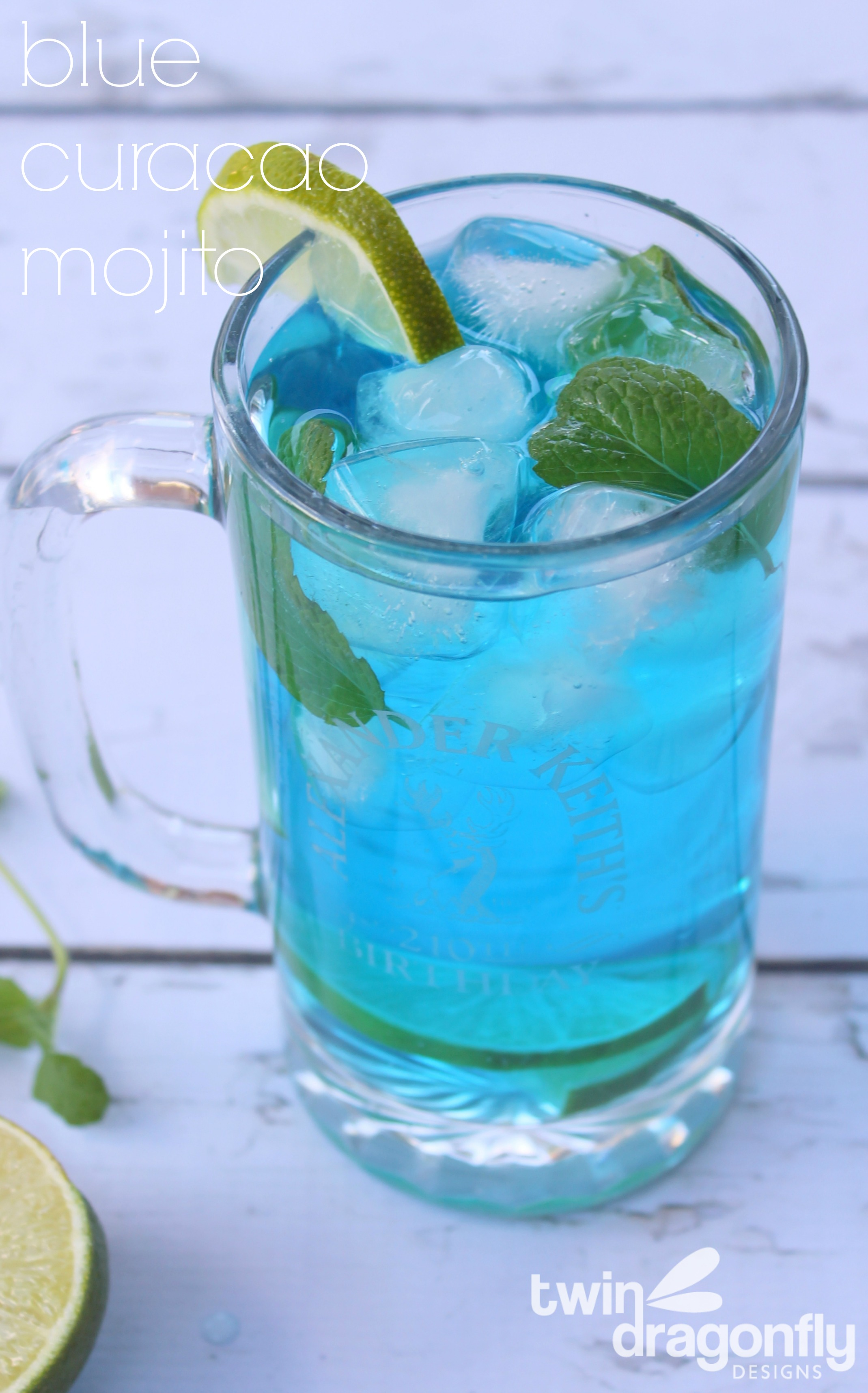 Blue Curacao Mojito » Dragonfly Designs