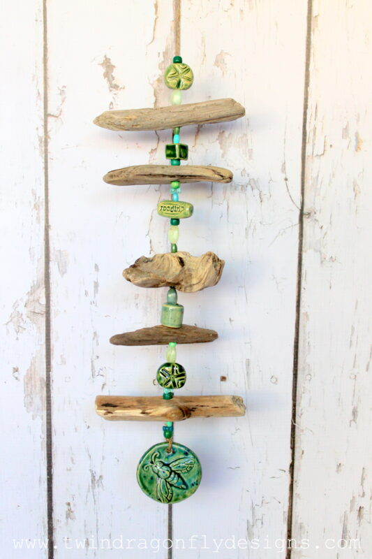 Driftwood Wind Chime Dragonfly Designs