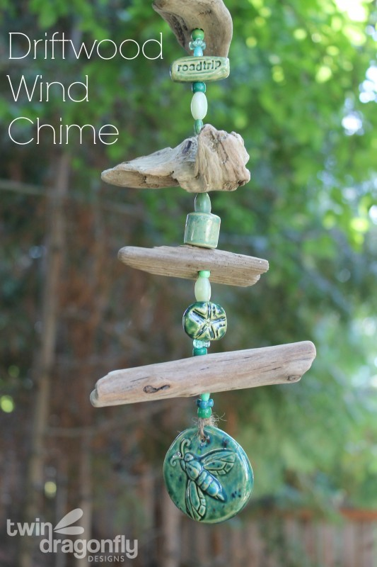 Driftwood Wind Chime 187 Dragonfly Designs