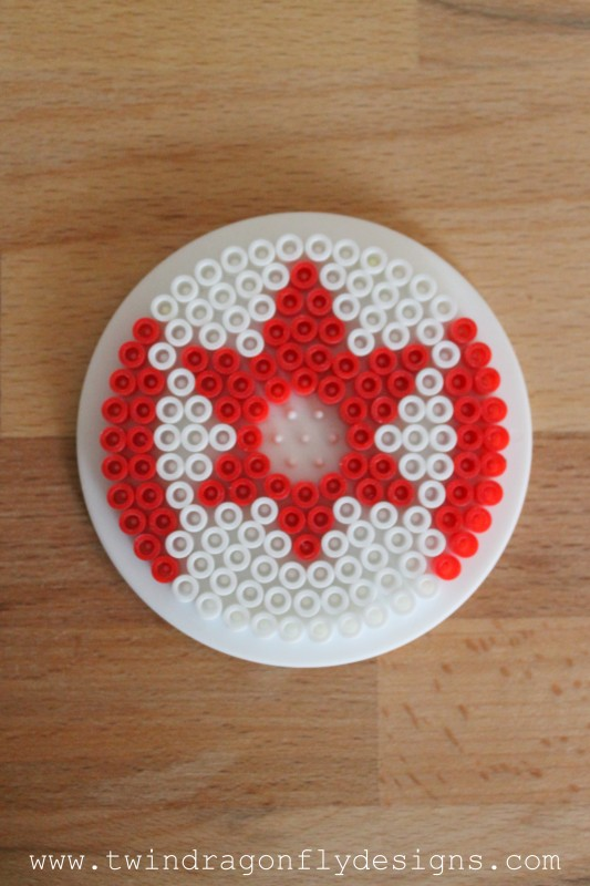 Patriotic Perler Bead Cup Covers