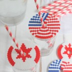 Patriotic Perler Bead Cup Covers