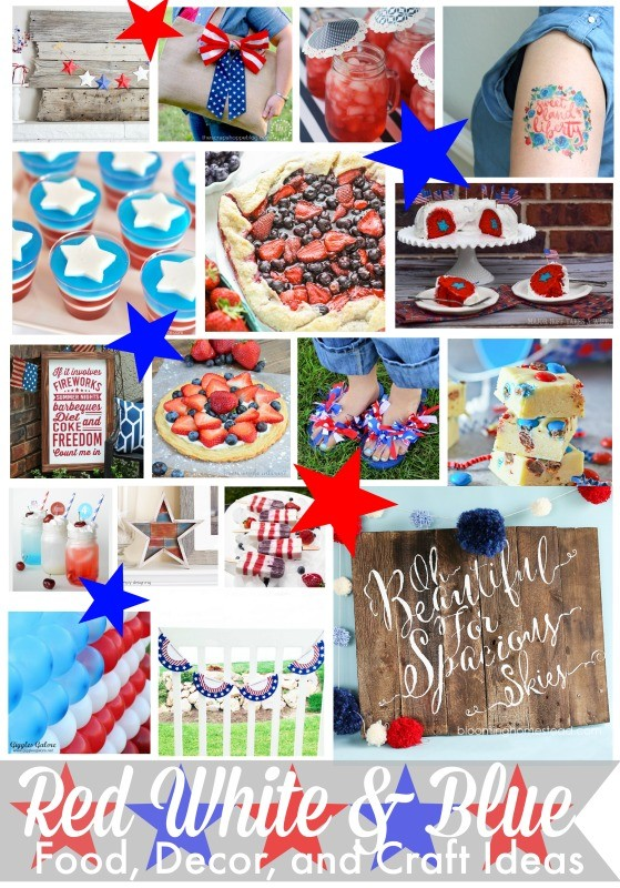 Red White and Blue Food Decor and Craft Ideas
