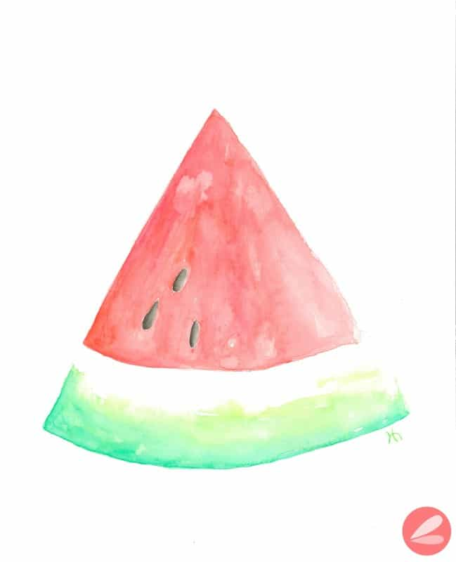Watercolor Watermelon Printable Watermark