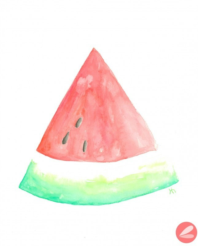 Watercolor Watermelon Printable Art