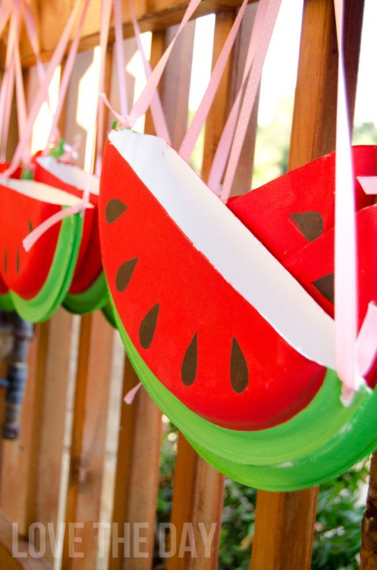 Watermelon Paper-Plate-Purses